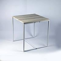 Стол журнальный Куб 400/450  Дуб пепельный / белый (Cub 400/450 pepel-white)