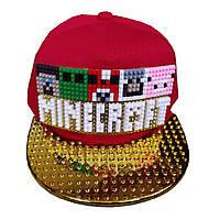 Кепка Лего Майнкрафт (Lego-Minecraft Cap), бейсболка - конструктор