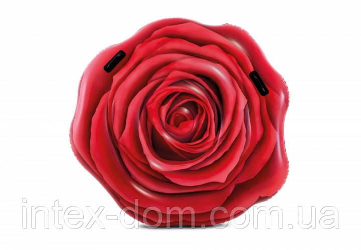 Пляжный надувной матрас Intex 58783 (Роза)(137 х 132 см)