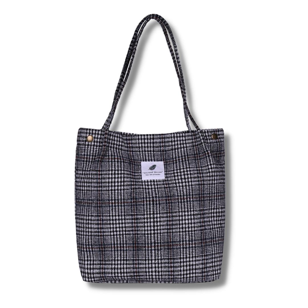 Женская мягкая сумка в клетку AL-3664-75