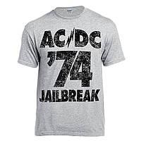 Футболка AC/DC 74 Jailbreak меланжева