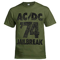 Футболка AC/DC 74 Jailbreak оливкова, фото 1