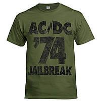 Футболка AC/DC 74 Jailbreak оливкова