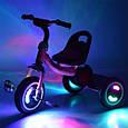 """Дитячий велосипед """"Гномик"""" триколісний Turbotrike (САЛАТОВИЙ) арт. 3650-M-2, фото 5"""