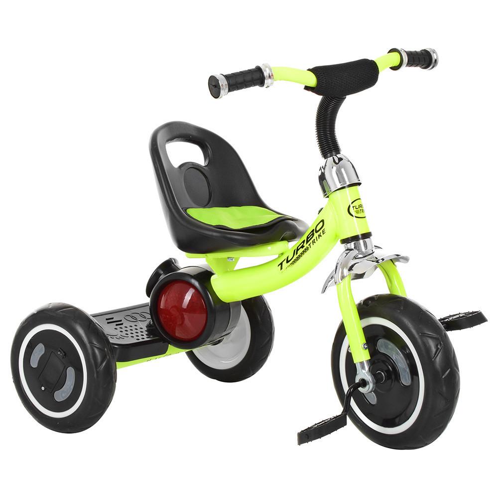 """Дитячий велосипед """"Гномик"""" триколісний Turbotrike (САЛАТОВИЙ) арт. 3650-M-2"""