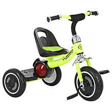 """Детский велосипед """"Гномик"""" трехколесный Turbotrike (САЛАТОВЫЙ) арт. 3650-M-2"""