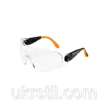 Очки защитные черно-оранжевые, 529 Univet