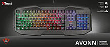 Клавиатура Trust GXT 830-RW Avonn LED Black (22511) USB, фото 3