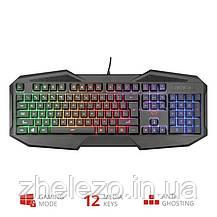 Клавиатура Trust GXT 830-RW Avonn LED Black (22511) USB, фото 2