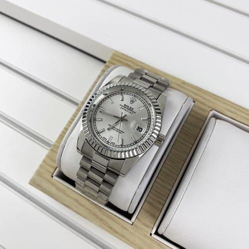 Металеві годинник Rolex, жіночі чоловічі срібні годинник ролекс, жіночий, чоловічий, срібний годинник