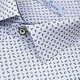 Сорочка чоловіча, приталена (Slim Fit), з довгим рукавом PASHAMEN 1731-03 90% бавовна 10% поліестер L(Р), фото 2