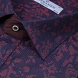Сорочка чоловіча, приталена (Slim Fit), з довгим рукавом PASHAMEN 1758-05 97% бавовна 3% еластан L(Р), фото 2
