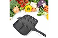 Сковорода гриль Magic Pan 32x28 см сковородка универсальная