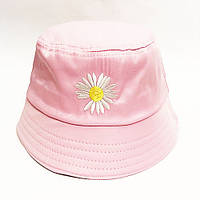 Панама рожева квітка унісекс, розмір 56-59 (onesize)