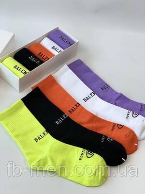 Носки в коробке  Balenciaga высокие | Мужские женские носки Баленсиага с принтом | Брендовые носки Balenciaga
