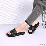 Женские шлепки Dior Soben белые бежевые черные, фото 6