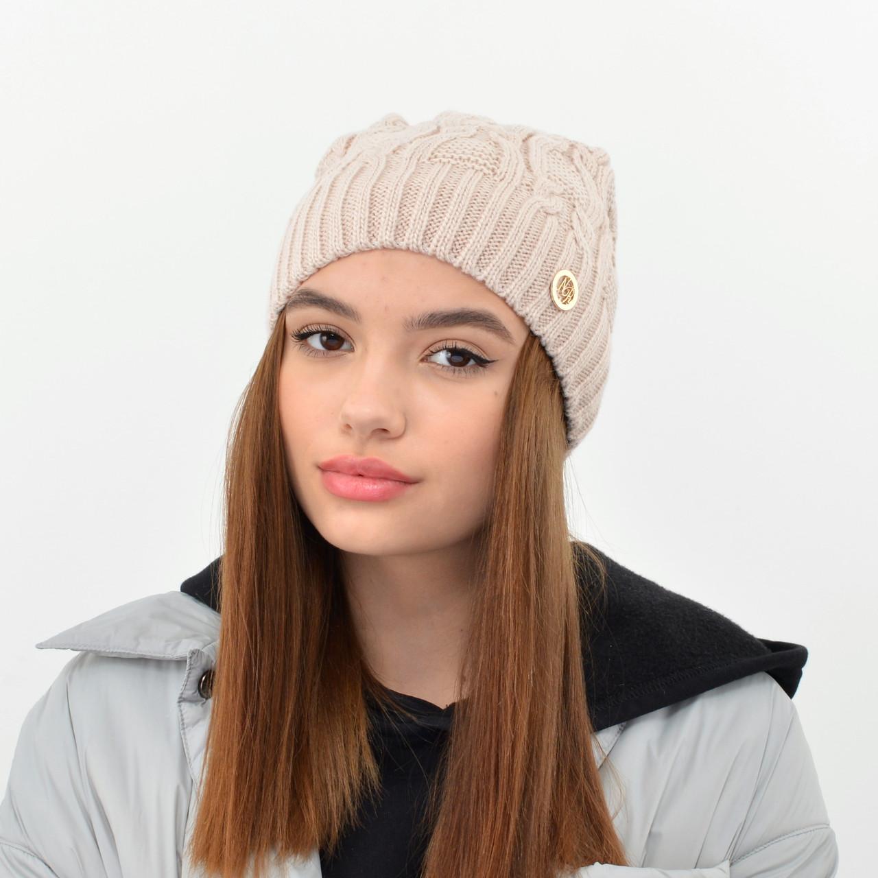 """Женская шапка Nord """"Соня"""" беж"""