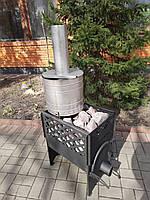 Печь-каменка KOZAK (буржуйка) для 8-12 м3 парной без выноса