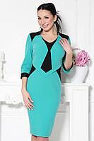 Платье Стюардесса (зеленый/черный)