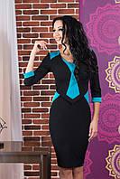 Платье Стюардесса (черный/голубой)