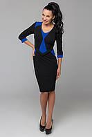 Платье Стюардесса (черный/синий)