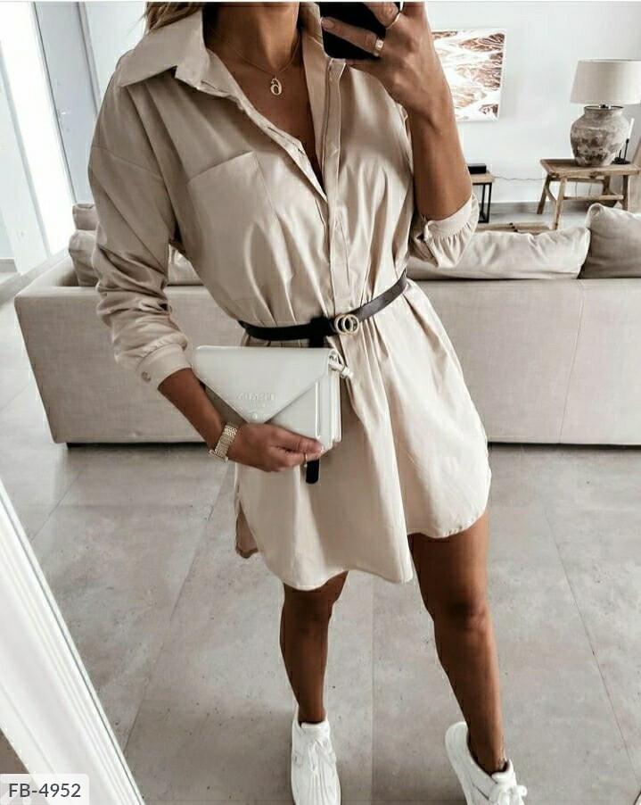 Платье-рубашка (Батал)