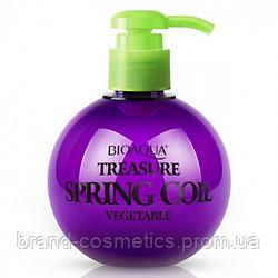 Эластин BIOAQUA Treasure Spring Coil Vegetable для укладки волос с восстанавливающим эффектом 250 г
