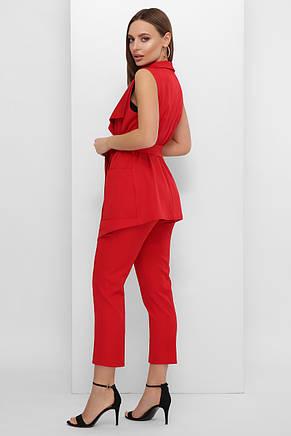 Женский стильный костюм - жилет и капри, фото 2
