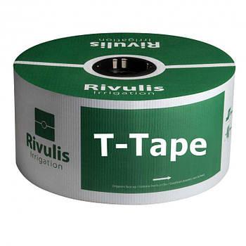 Капельная лента Rivulis Irrigation T-Tape 5 mil/20 см водовылив 5 до 13,5 л/ час 3658 м