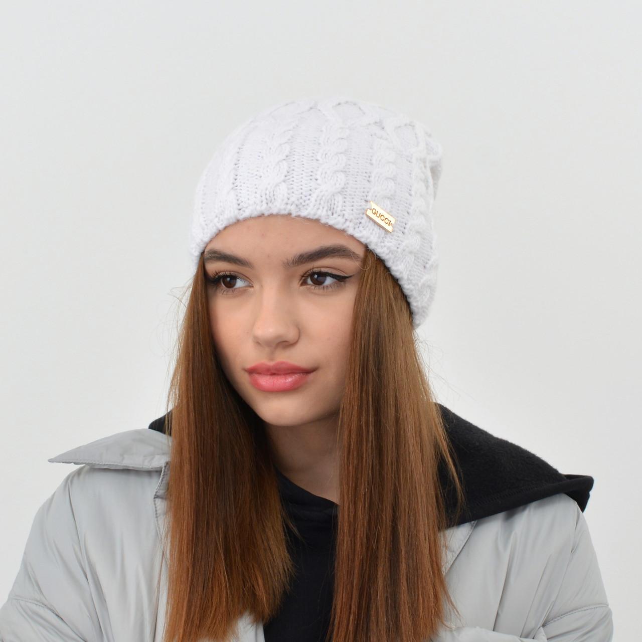 """Женская шапка Nord """"Соня"""" молочный"""