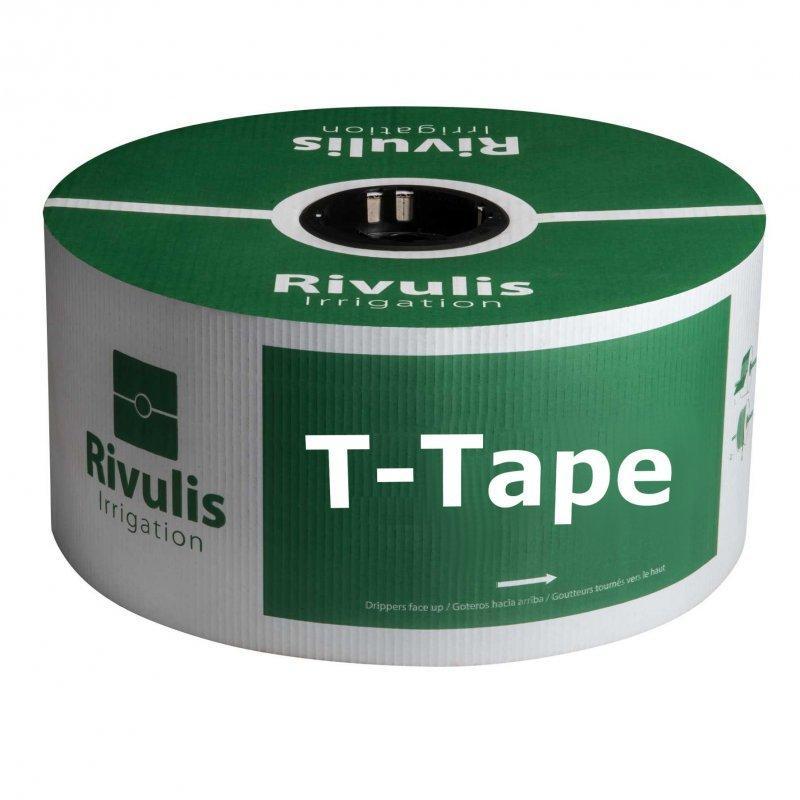 Капельная лента Rivulis Irrigation T-Tape 8 mil/20 см водовылив 5 до 13,5 л/ час 2300 м