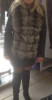 Пошив кожаной куртки с мехом из чернобурки