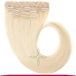 Натуральные Славянские Волосы на Заколках 65-70 см 115 грамм, Блонд №60