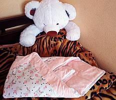 Конверт- ковдра на виписку для новонародженого BeniLo Рожевий + БОНУС