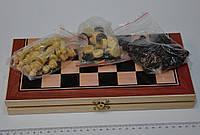 Шахматы, шашки, нарды набор настольных игр дерево 30*30см