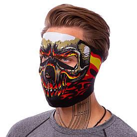Маска ветрозащитная лицевая Red Evil Skull неопрен MS-4344-3
