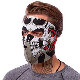 Маска на лицо ветрозащитная Tribal Skull неопрен MS-4344-4 OF