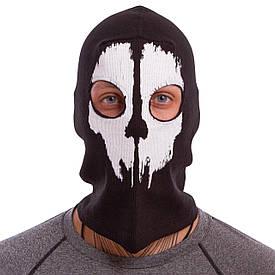 Подшлемник балаклава-маска Скелет коттон Horror MS-4825-2