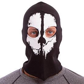 Ветрозащитная маска Балаклава подшлемник Скелет коттон Ghost MS-4825-3