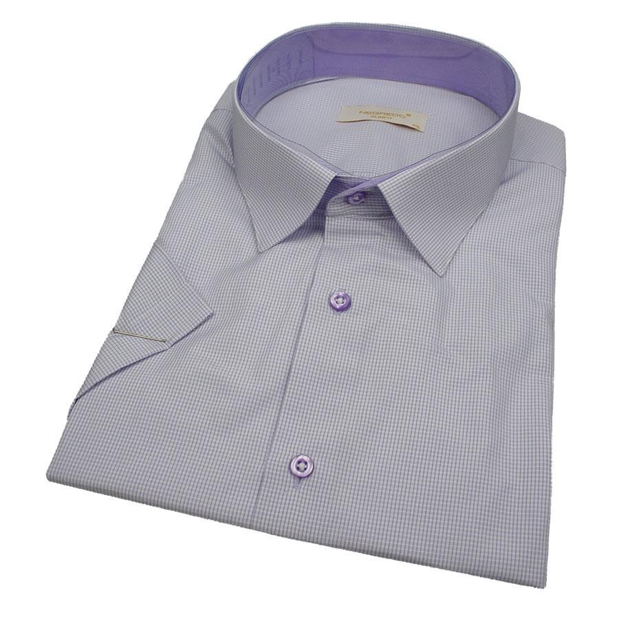 Якісна чоловіча сорочка короткий рукав Negredo 560 BKS 08 великий розмір