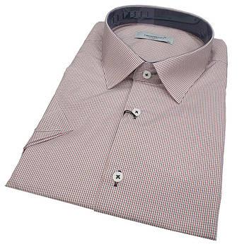 Чоловіча приталена сорочка короткий рукав Negredo 560 BKS 10 великого розміру