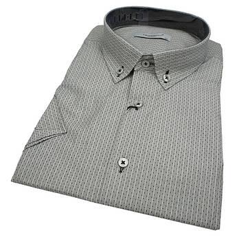 Стильна чоловіча сорочка короткий рукав Negredo 560 BKS 12 великих розмірів