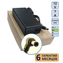 Блок живлення 5,5-2,5 7A 12V клас A+ (кабель живлення у подарунок) нов