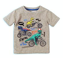 Серая детская футболка для малыша 9-12 мес, Minoti, 74-80 см