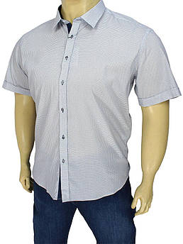 Літня чоловіча сорочка Negredo 9000 BK 01 біла великого розміру