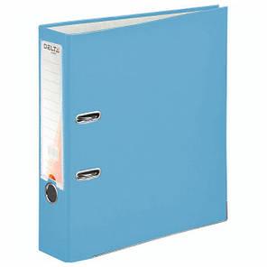 Папка - регистратор (сегрегатор) А4/75 Delta (голубая-односторонняя), фото 2