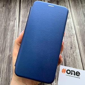 Чехол книга для Samsung Galaxy A71 с эко кожи с подставкой магнитом книжка на телефон самсунг а71 синяя STN