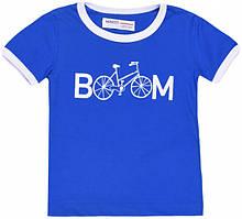 Синяя детская футболка для малыша 9-12 мес, Minoti, 74-80 см