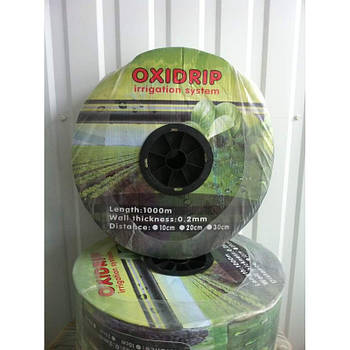 Капельная лента Oxi Drip 8 mil/20 см, водовылив 1,38-1.8 л/час, в бухте 2500 м