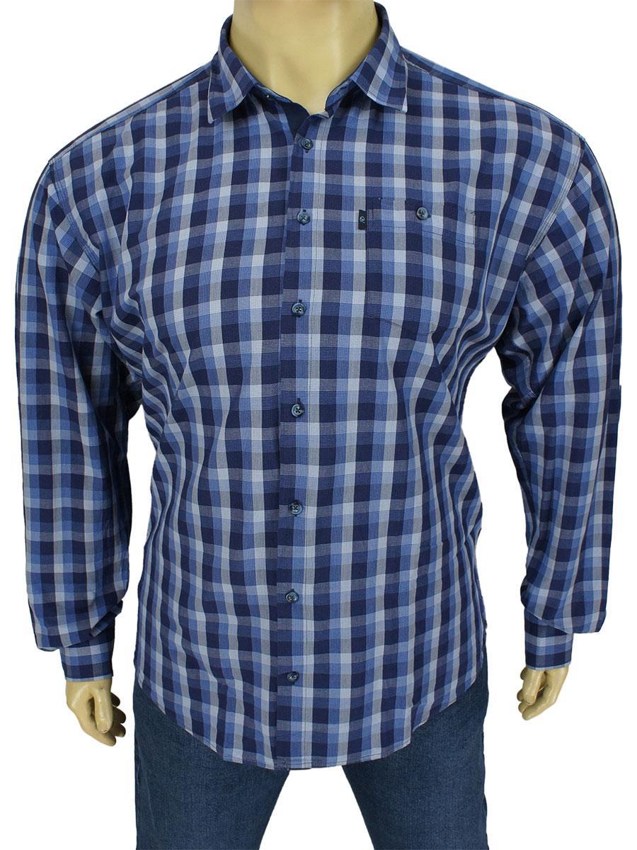 Якісна бавовняна чоловіча сорочка Negredo 0340 BDI 07 у великих розмірах